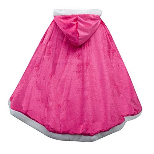 Le SSara Manga Larga Chica Princesa Cosplay Disfraces Fantasía Vestido de Mariposa (110, PJ-Rose Red)