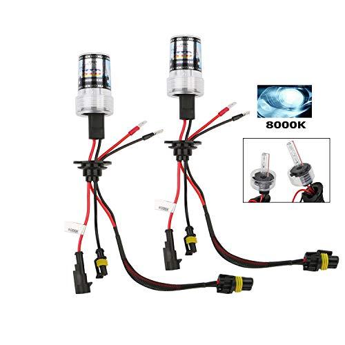 Lampade H7, OSAN Coppia H7 55W 8000K Xenon HID Lampadine Lampade di Ricambio