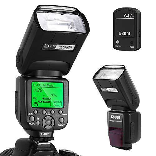 Flash Speedlite per Canon,ESDDI E-TTL Kit Flash professionale con trigger flash wireless, 1/8000 HSS...