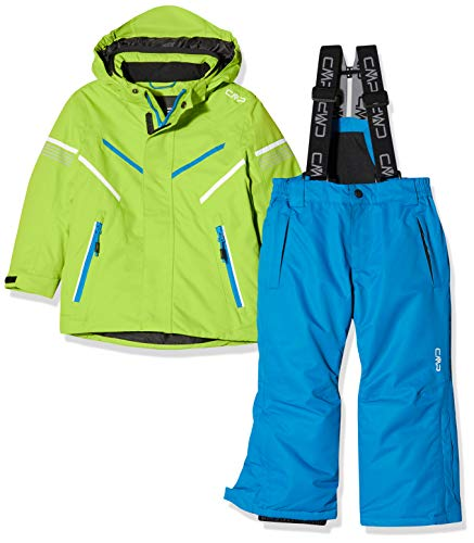 CMP Feel Warm Flat 5.000 39W1844, Set Giacca e Pantaloni Bambino, Limegreen, 128