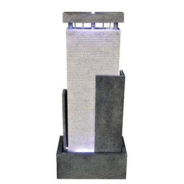 Zen Luz Paredes CPM2C - Fuente de Pared de Agua, 46 x 27 x 90 cm, Color: Blanco/Negro 3
