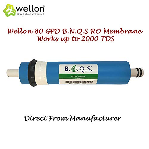 Wellon BNQS Polyurethane RO Membrane 80 GPD for All Water Purifiers Works up to 2000 TDS