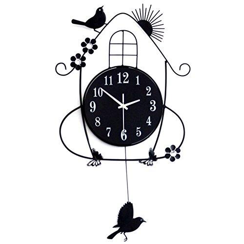 LifeUp- Pendolo con Uccellino cucù, Orologio da Parete Vintage Design Moderni Decorazioni Casa...