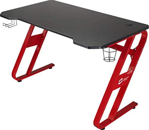 SPEEDLINK SCARIT Gaming Desk Z-Shape Schreibtisch, schwarz-rot, 1140 × 680 × 750mm
