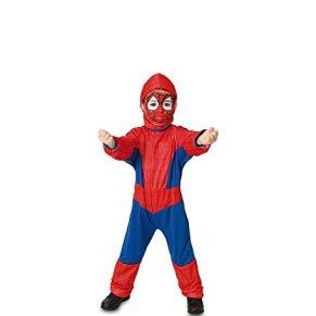 Fyasa 706075-T00 - Disfraz de héroe araña para niños de 3 a 4 años, multicolor.