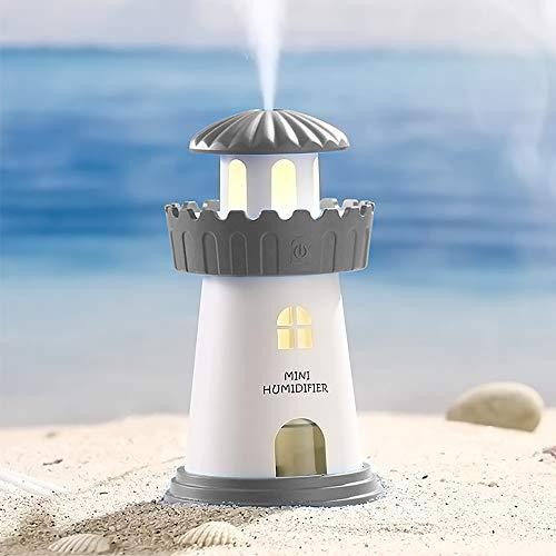 Luftbefeuchter Ultraschall Diffuser, 150ml Mini-Luftbefeuchter Tragbarer Luftbefeuchter Baby Leise mit Zeitgesteuerter Automatischer Abschaltung für Büro und Zuhause (Grau)