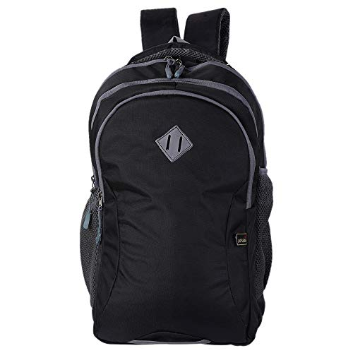 JAPSBAG 30 Ltrs Casual Waterproof Laptop Backpack Bag for Men Women Boys Girls/Office School College Teens & Students with Free RAIN Cover (Black)
