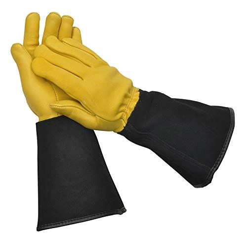 "WAGNER Gold Leaf Gloves \""TOUGH TOUCH\"" Damen - Gartenhandschuhe / Rosenhandschuhe der Extraklasse, Hirschleder und Rindsleder / stachelresistent - 25305100"