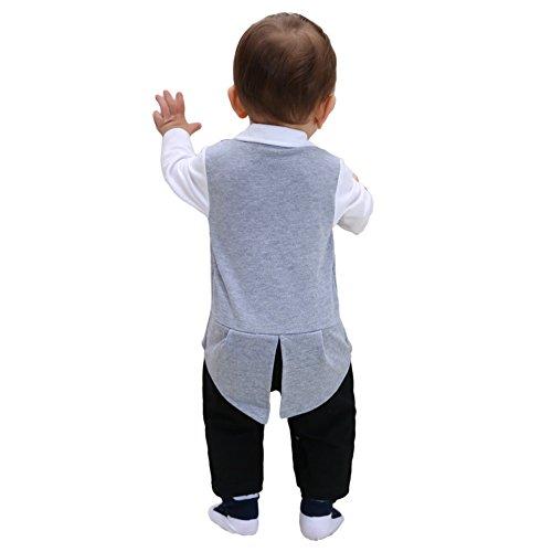 c0a7b6d6baf8b ZOEREA Newborn Infant Toddler Baby Boys Tuxedo Cotton Gentleman Romper  Jumpsuit with Tie Wedding Suit 3-18 Months