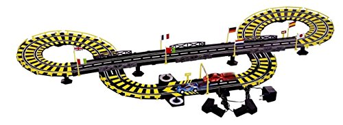 Toyshine 14 Feet Long Electronic Track Set, Independent Control for Each Car