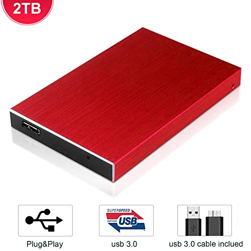 Hard Disk 2 TB Esterno USB 3.0 Portatile Disco Rigido Esterno, Lightweight Memoria HDD External Hard...