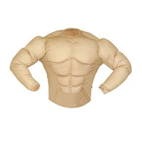WIDMANN Muscle Shirt (Rambo Style) |Fake Chest [Available Sizes : Mens up to a 46/48 chest] (disfraz)