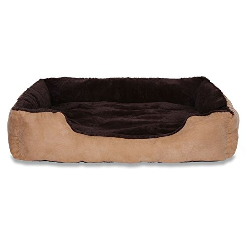 dibea DB00513, Letto per Cani, Divano morbido, Velluto, cuscino reversibile (XL) 90 x 70 cm,...