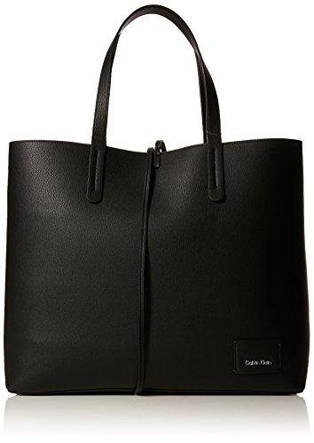 Calvin Klein - Ck Reversible Shopper, Bolsos totes Mujer, Negro (Black/White), 14x35x42 cm (B x H T)