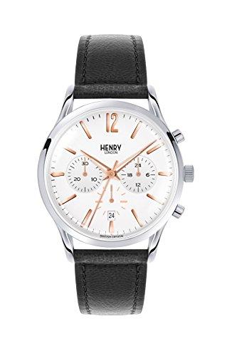 Henry London Orologio Cronografo Quarzo Unisex Adulto con Cinturino in Pelle HL41-CS-0011