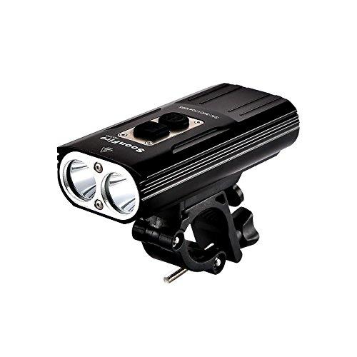 Soonfire FD38S faro per bici'faretto luce per bici ricaricabile via USB Super Luminoso'2 * CREE...