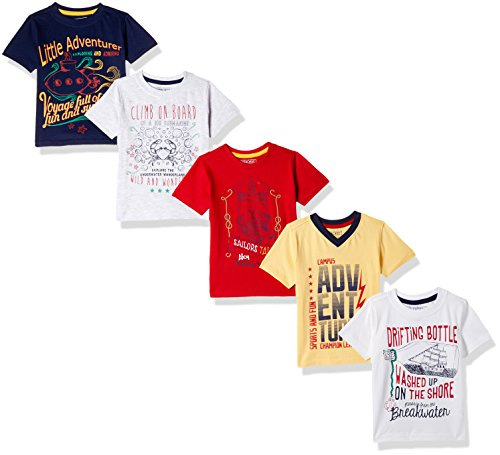 Cherokee by Unlimited Boys' T-Shirt (Pack of 5)(400016981025_Assorted_03Y)