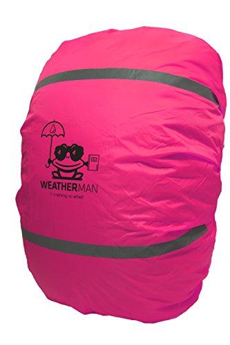 Weatherman, rosa copertura, protezione anti-pioggia, per zaini, zainetto, cartella I stagna, colore...