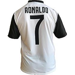 Maglia Juventus Cristiano Ronaldo 7 CR7 Replica Autorizzata 2018-2019 Bambino (Taglie-Anni 2 4 6 8 10 12) Adulto (S M L XL) (8 Anni)