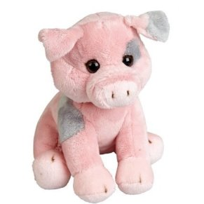Ravensden FRS016PI The Suma Collection - Cerdo de peluche (19cm), color rosa y gris