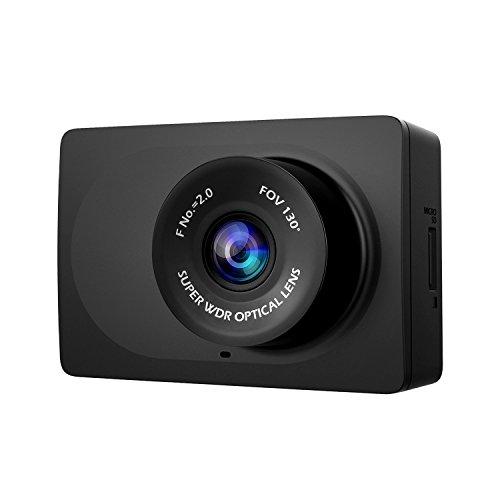 """YI Telecamera per Auto Compatta dash cam dash camera Dashcam WiFi 1080p/30fps Full HD Grandangolo di 130° Registrazione d'Emergenza – Videocamera per Auto con Visione Notturna e Schermo LCD da 2.7"""" - Nero"""