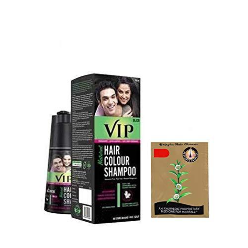 VIP Hair Shampoo 5 in 1 (Black) 180ml + Bringa Hair cleanser 15ml free