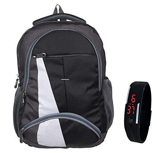 BLUTECH Waterproof,Laptop College School Bag for Boys + Black LED Watch