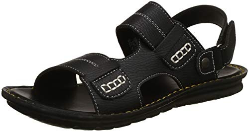 Bond Street by (Red Tape) Men's RSP014 Black Sandals-9 UK/India (43 EU) (RSP0141-9)