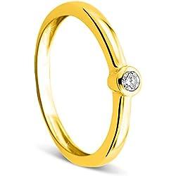 Orovi 9carats (375/1000) or jaune 375/1000 (9 cts) Balle Blanc Diamant