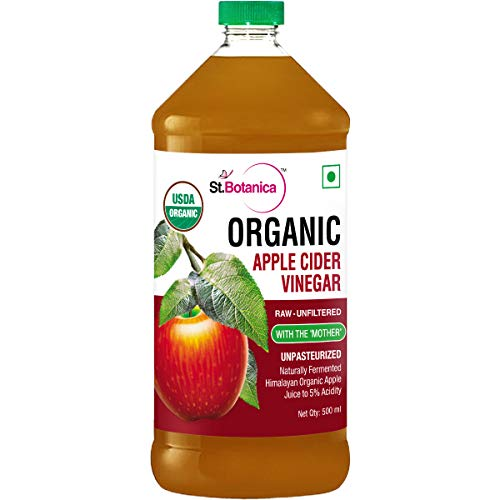 StBotanica Usda Organic Apple Cider Vinegar - Raw, Unfiltered With Mother Vinegar - 500Ml