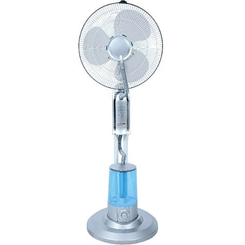 Syntrox Germany SVT-75W Ventilator mit Luftbefeuchter Oszillation Axialventilator Standventilator Windmaschine Lüfter Gebläse Luftkühler