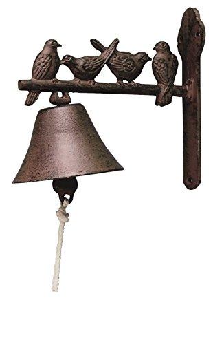Esschert design, Türglocke Vogelmotive, Gusseisen, 22 x 19 x 11 cm, DB22