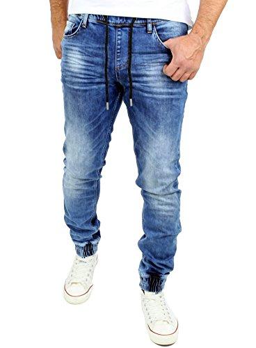 Reslad Jogg-Jeans Used Look Jeans-Herren Slim Fit Jogging-Hose RS-2073...