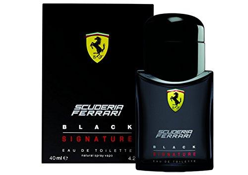 Ferrari Scuderia Black Signature Eau de Toilette Spray for Men 1.3 Ounce