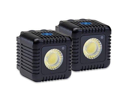 Lume cubo lc0012ne–Torcia LED per fotocamere, Nero–Kit di 2Unità