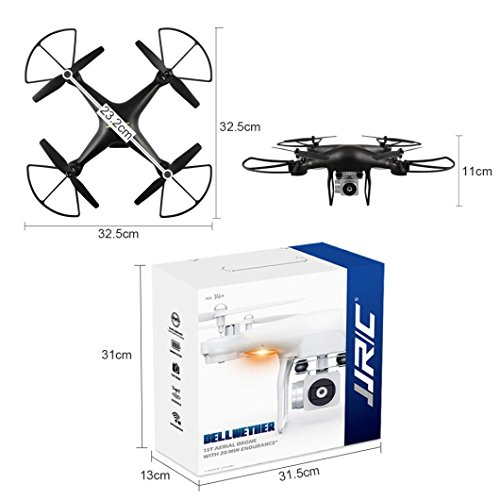 Igemy JJRC H68obiettivo grandangolare 720p HD fotocamera Quadcopter RC drone WiFi FPV 1800mAh...