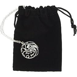Juego de Tronos de collar y colgante Targaryen (sterling silver)
