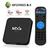 Android 8.1 TV Box, Superpow Smart TV Box Quad Core 2GB RAM+16GB ROM, 4K*2K UHD H.265, HDMI, USB*2, WiFi Media Player, Android Set-Top Box