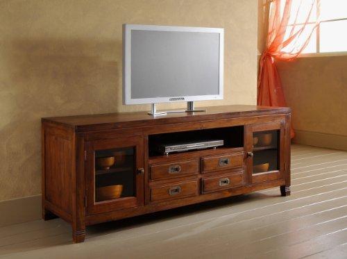 MaisonOutlet Mobile Porta-Tv stile etnico moderno in legno massello di Teak realizzazione...