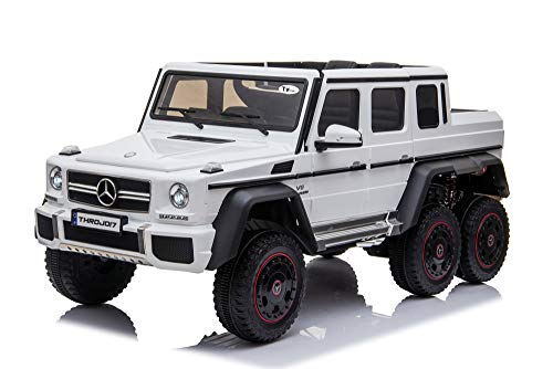 Toyhouse Officially Licensed Mercedes Benz Brabus 6X6 G63 AMG Battery Operated Ride-on Swing Function car with Remote for Kids(2 to 6 yrs), White