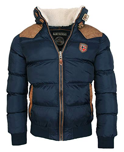 Geographical Norway -  Giacca - Trench - Manica Lunga - Uomo Blu Navy S