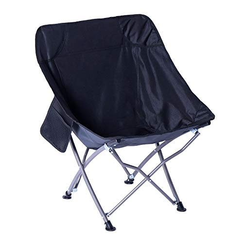 WH Seggiolone da Giardino Dream Chair Sedia da Campeggio per Il Tempo Libero con Sedia per Il Tempo Libero (Color : Nero)