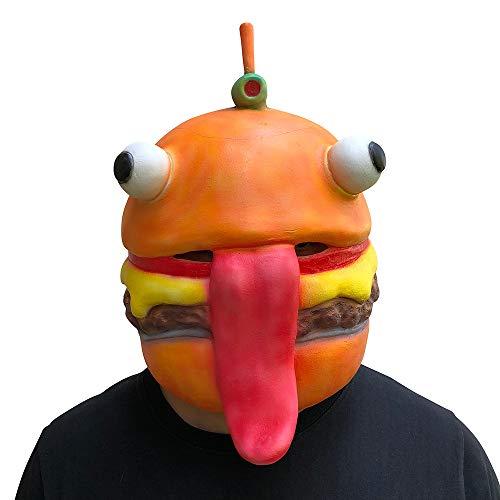 Zolimx Abrazo Equipo Líder Fortnite Oso Máscara Juego de Fusión Cara de Látex Adulto Traje Cosplay Juguete (Naranja)