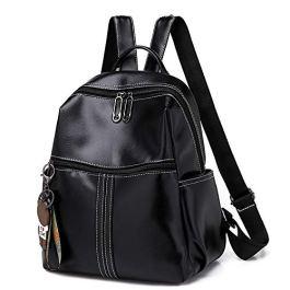 BAGZY Casuale Zaino Donna Daypack Backpack Borse a Zainetto in PU Pelle Impermeabile Antifurto Borse a Mano Zaino con Tracolla Grande Capacità per Scuola Viaggio Lavoro