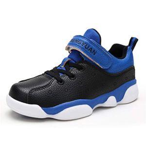 Qianliuk Winter Children Sneakers Boys High top Basketball Shoes Running Sport Shoes Anti-Slippery Trainers 41qvsSZFXYL