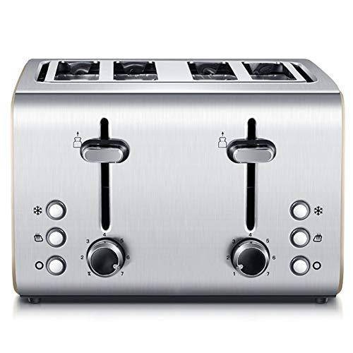 Tostapane a 4 sezioni 1400W, 4 toast a vaschetta larga con scaldavivande Annulla funzione di...