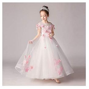 FSKZ Baby Girl Princess Dress Girl Dress Party Girl Cenicienta Disfraz de Halloween Christmas Long Hair Girl Dress,White-100CM