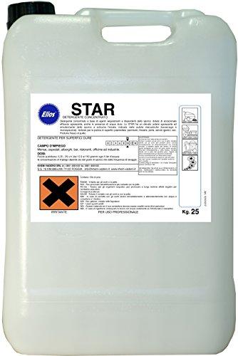 Elios - STAR lavapavimenti detergente sgrassante bassa schiuma per lavasciuga profumato kg.25 -...