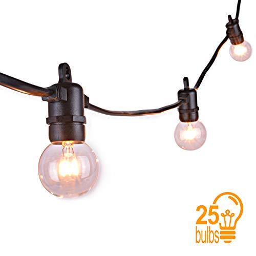 Sunix catena luminosa lampadina, luci della stringa con 25 G40 Bulbi, Luce Calda Bianca,...