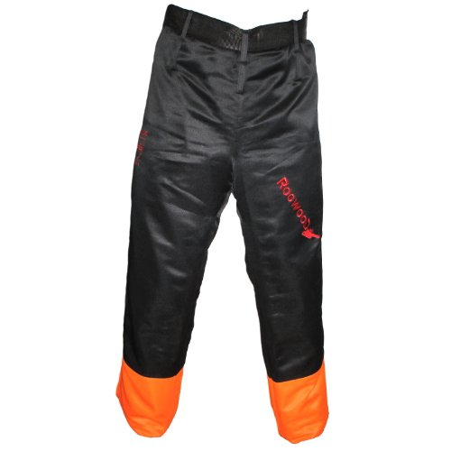 The Rockwood Chainsaw Protective Chaps / Seatless Trousers / Leggings are designed to be worn over clothing and they only offer front protection. They come with a useful belt that allows anyone within the specified waist range to fit them comfortably. We found mixed feelings concerning their weight but we think they are comfortable to wear around. We would not recommend these chaps for those starting to work with chainsaws. But if you know what you're doing, then you can put them on to work. These are among the best chainsaw chaps on the market and certainly you can afford them.